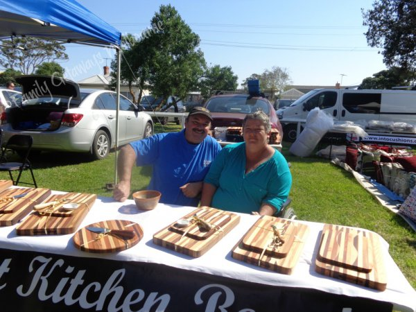 Handmade Kitchen Chopping Boards selling at Queenscliff Community Market