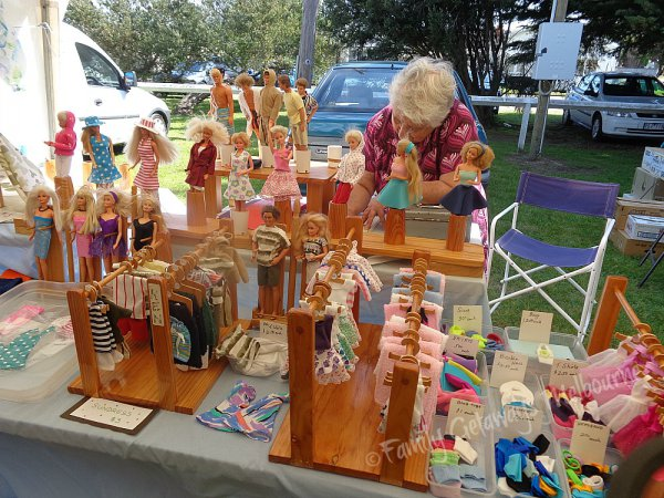 Barbie Dolls Clothes selling at the Queenscliff Market in south west Victoria