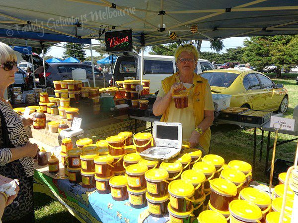 Liquid gold - Honey selling at the Queenscliff Market
