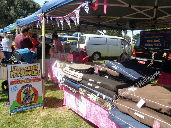 Pet supplies selling at the Queenscliff Community Market