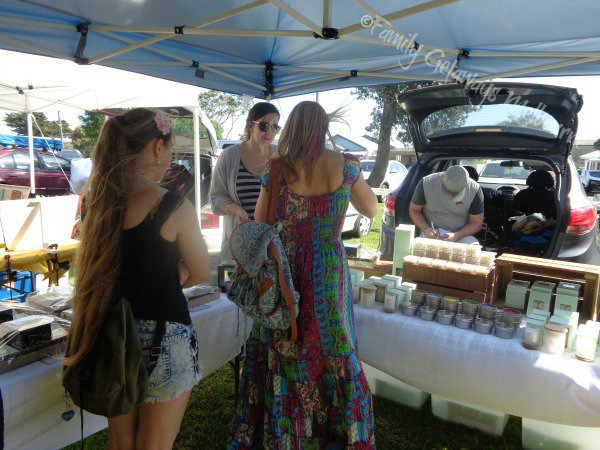 Soy Candles and gifts sold at Queenscliff market