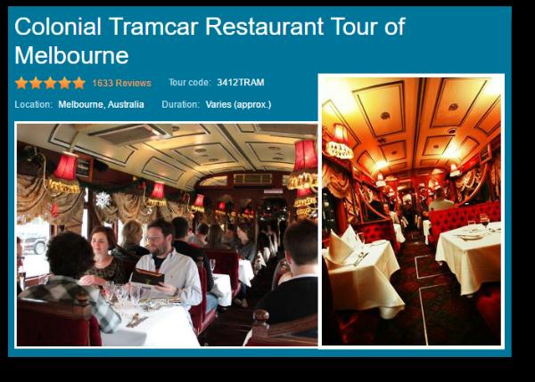 city circle tram restaurant tour
