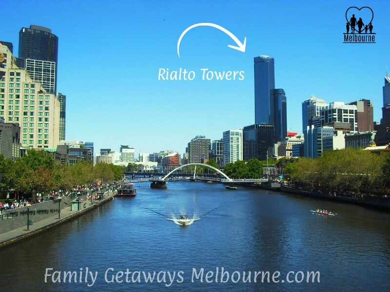 Rialto Towers seen from the Yarra River