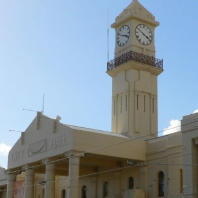 Richmond Town Hall clock