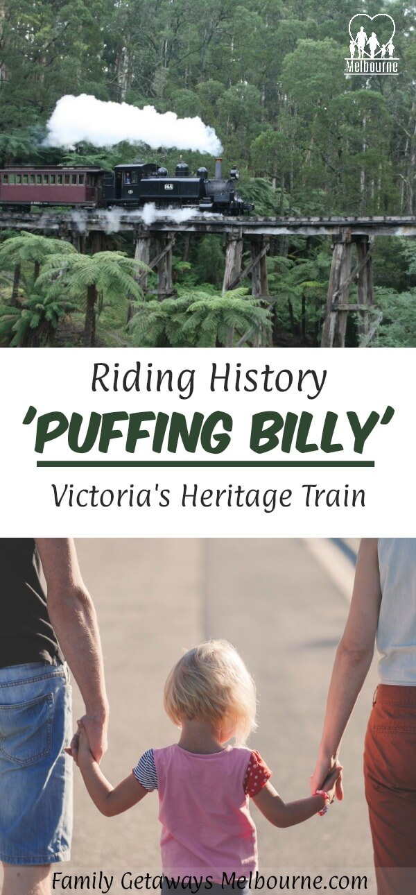 Puffing Billy Pinterest pin image