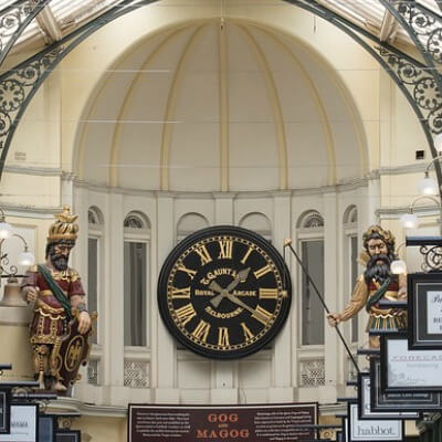 Royal Arcade clock