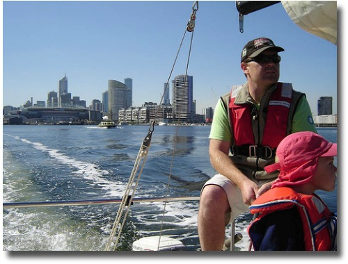 Sailing the waters in Port Phillip Bay Docklands Melbourne Australia compliments of http://www.flickr.com/photos/frenchy_ross/450396780/