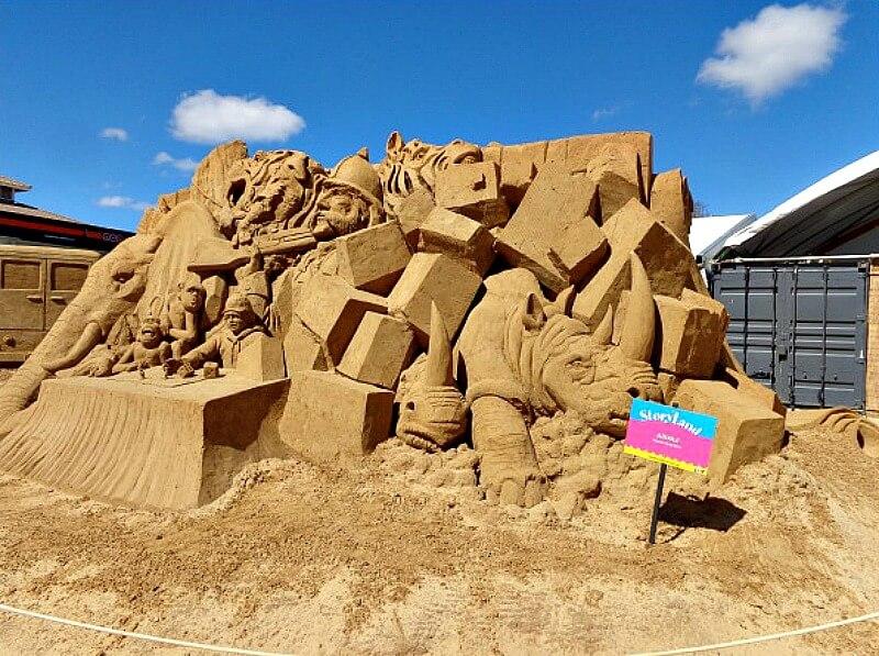 Jumangi sand sculpture on the Waterfront at Frankston