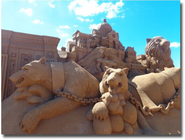 Amazing Sand Sculptures on the foreshore at Frankston