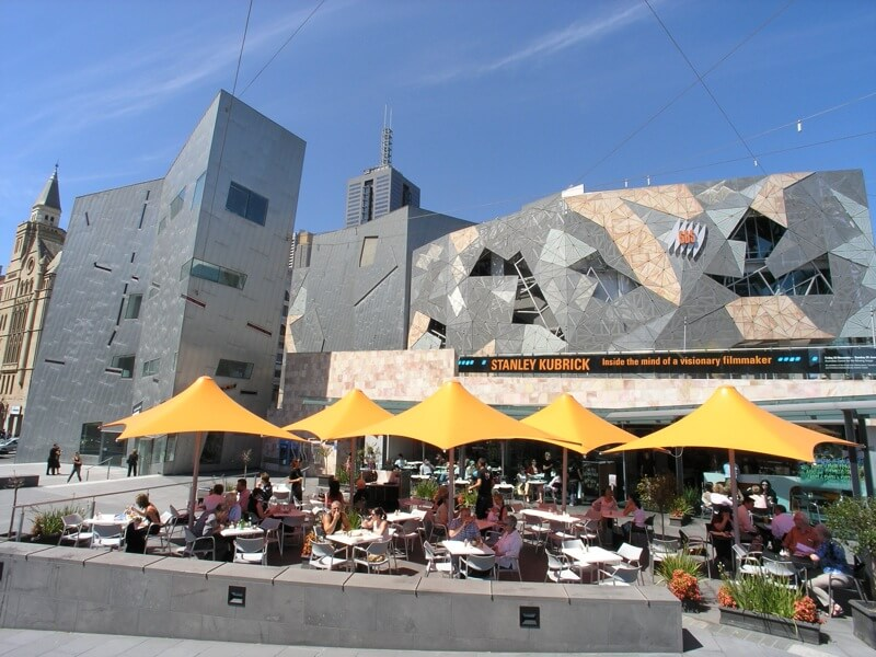SBS broadcasting building at Federation Square compliments of https://flic.kr/p/7KUi1