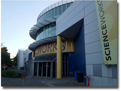 Scienceworks entrance Melbourne Australia compliments of http://www.flickr.com/photos/plakboek/7343048358/