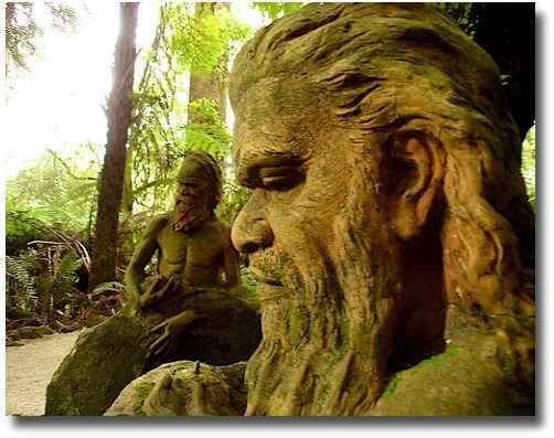 Aboriginal sculpture of men at the William Ricketts Sanctuary Melbourne Australia compliments of http://www.flickr.com/photos/alistercoyne/3152764717/
