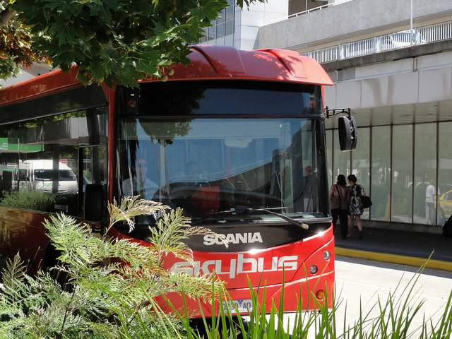 Skybus at Melbourne Airport compliments of https://flic.kr/p/9c3SQX
