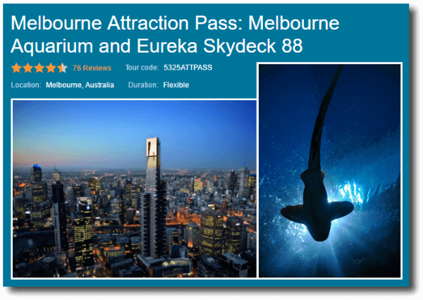 Melbourne Attraction Pass Viator