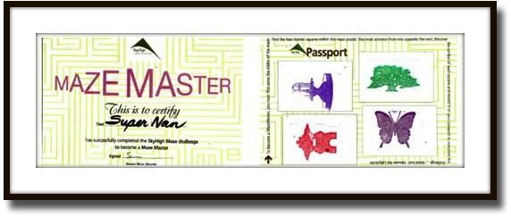 The Maze Master Certificate