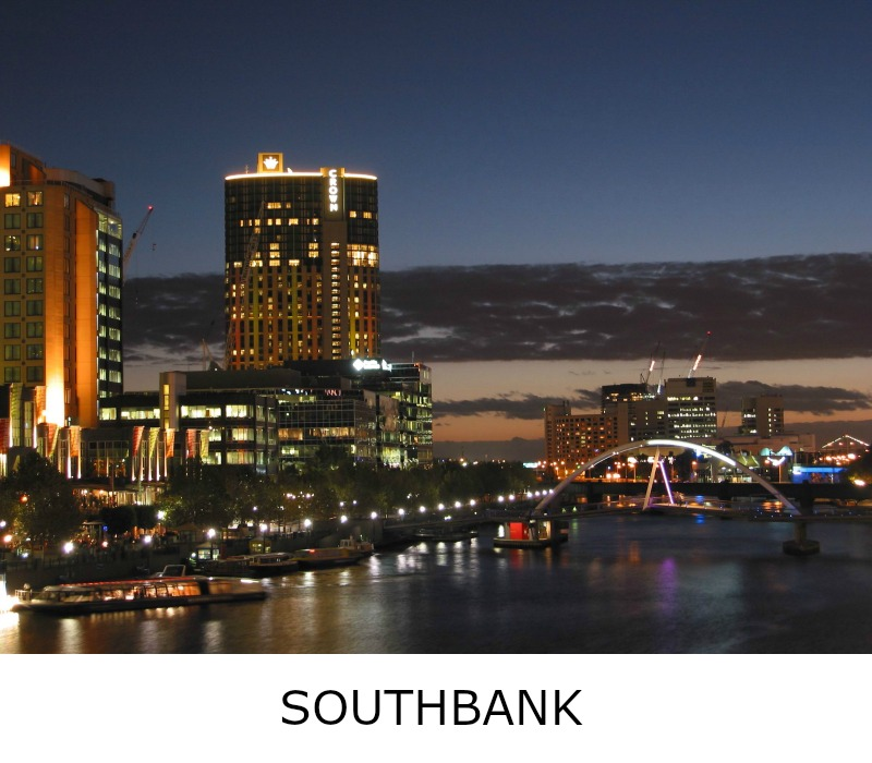 Image link to site page for more information on the Melbourne's exciting Southbank