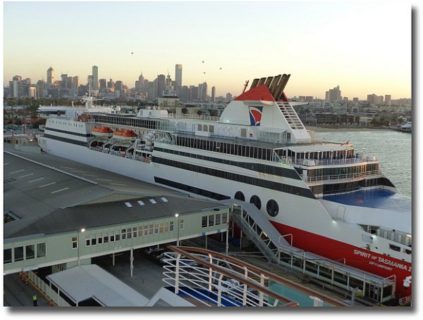 Spirit of Tasmania docked at Station Pier Port Melbourne, Australia