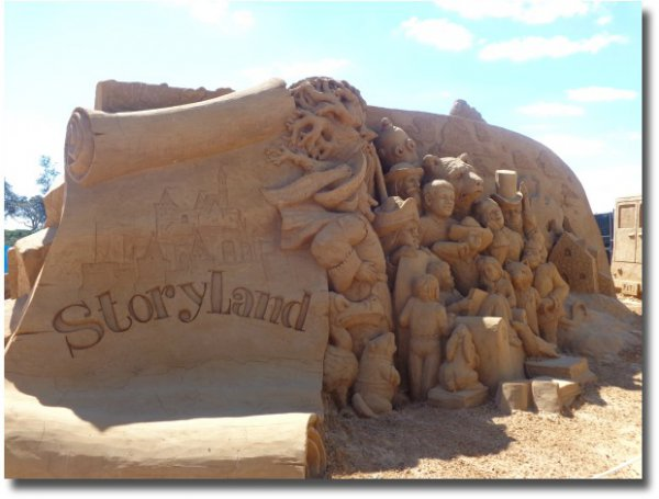 The Storyland theme for the Sand Sculpting Festival along the Frankston Waterfront 2014