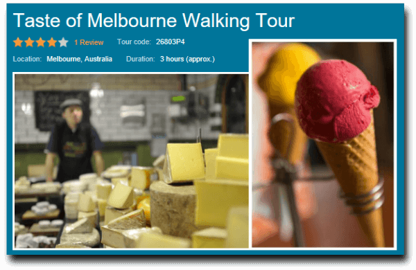 taste of melbourne walking tour