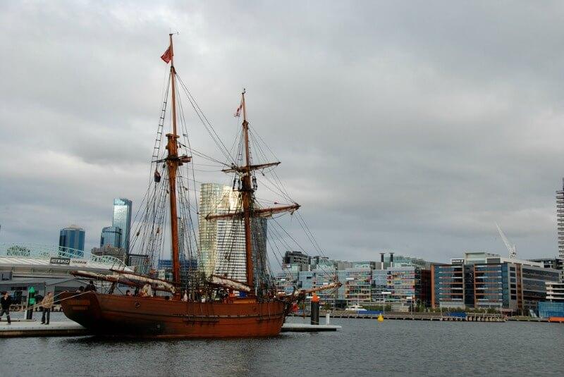 The Enterprize schooner moored at the Melbourne Docklands compliments of https://flic.kr/p/6UDj6D