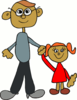 clip art dad and daughter