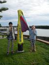 Shu, Ruby and Pelican Bollard Tooradin
