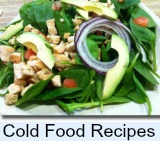 Graphic link to site page on cold picnic food ideas