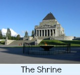 Thumbnail link to the Shrine of Remembrance Page