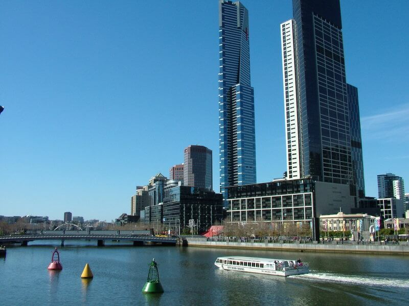 Cruising along the Yarra River passing Melbourne's crown Casino and other top attractions