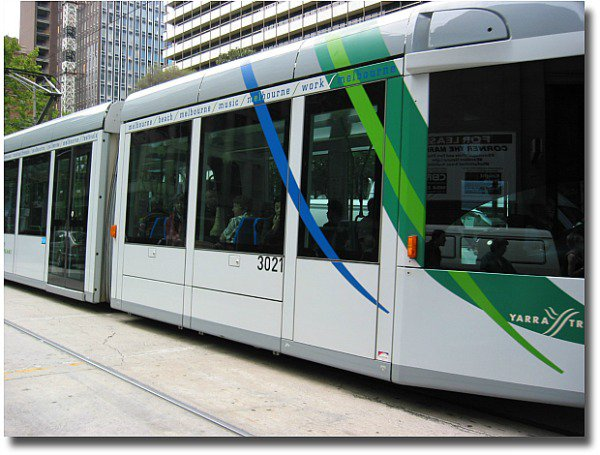 getting around the streets of Melbourne by tram