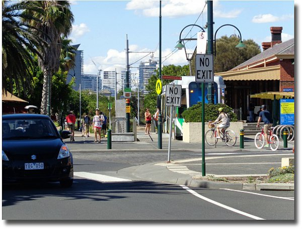 Tram at the start of route 109 Beacon Cove Victoria Harbour, Port Melbourne
