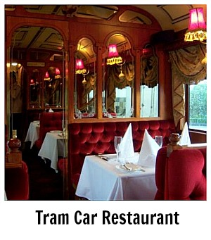 Link to site page on the Tram Car Restaurant tour