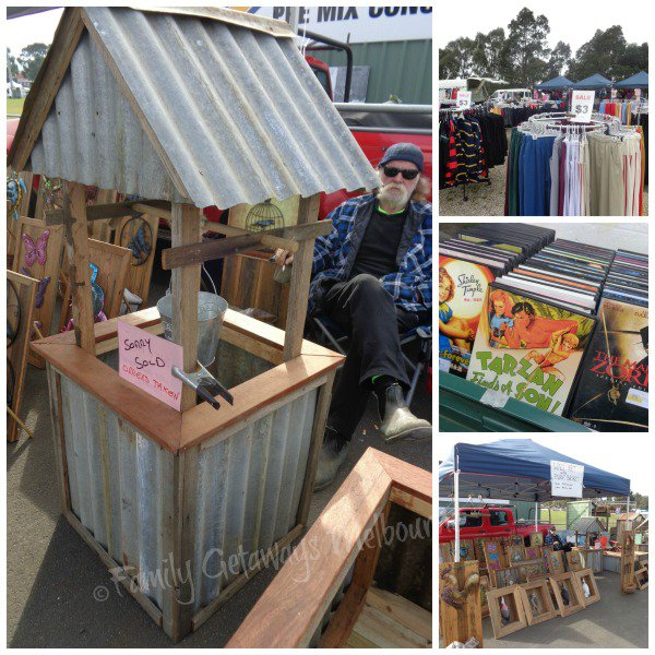 Permanent stallholders at the trash and treasure Pakenham Community Market