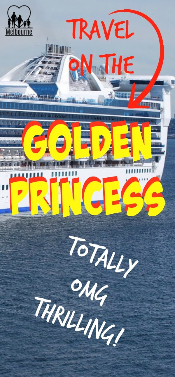 image to pin to Pinterest for the site page on the Golden Princess Cruise ship