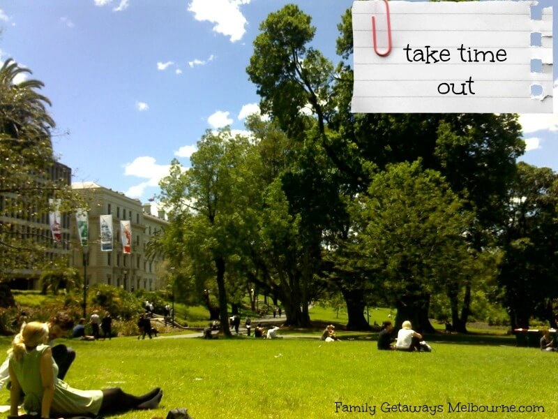 Time out in the Treasury Gardens