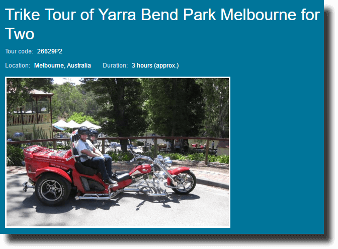 Viator Trike Tour of Yarra Bend