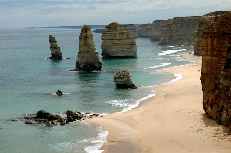12 Apostles on the Great Ocean Road in Victoria, Australia