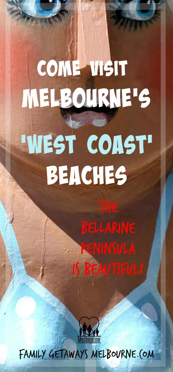 Pinterest pin image for Port Phillip Bay westcoast beaches