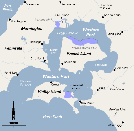 westernport bay map