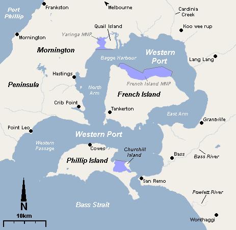 westernport bay map