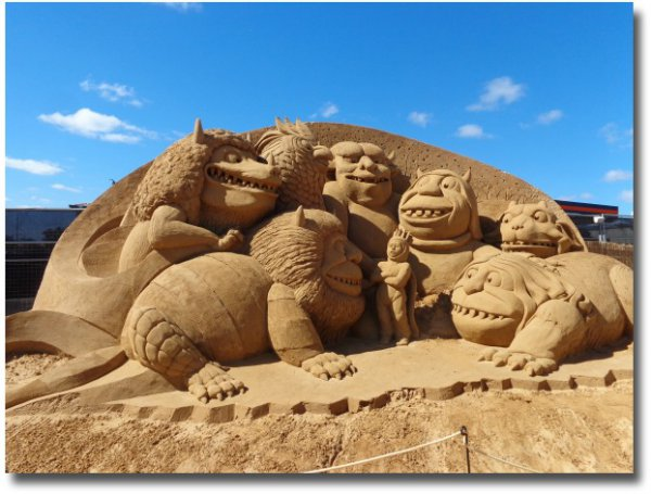 Where The Wild Things Are sand sculpture on the Frankston Foreshore