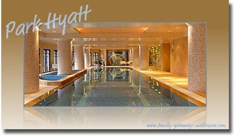 The Park Hyatt luxury in-house swimming pool