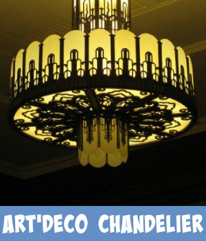 Link through to the Site page on art deco chandelier