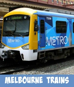 Thumbnail image link to site page on Melbourne train travel