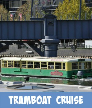 image link to site page on cruising the Yarra River on the tramboat