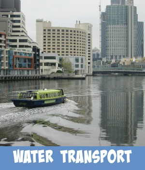 Melbourne's water transport page link graphic