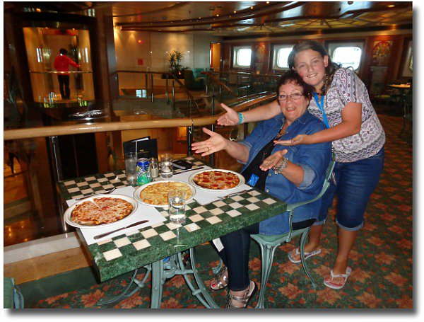 Pizza on the Dawn Princes