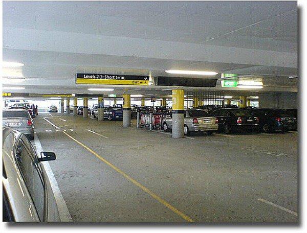 Undercover carpark at the melbourne Airport Melbourne Australia compliments of http://www.flickr.com/photos/dwz/485955243/