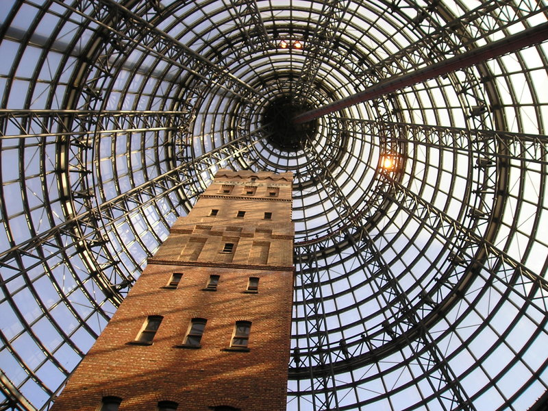 Melbourne Central Shot Tower and Glass Dome in the heart of the CBD