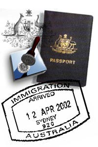 Immigration passport and stamps